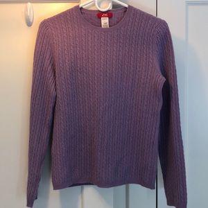 Anne Klein Sport cashmere sweater purple
